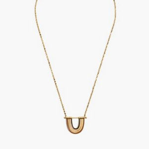 Madewell Enamel Rainbow Necklace - NEW!!